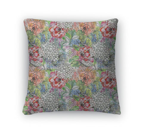 Throw Pillow, Floral With Flowers