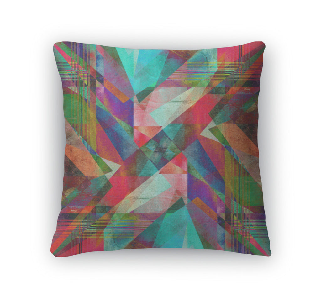Throw Pillow, Abstract Bright