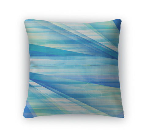 Throw Pillow, Abstract Blue Color Bright