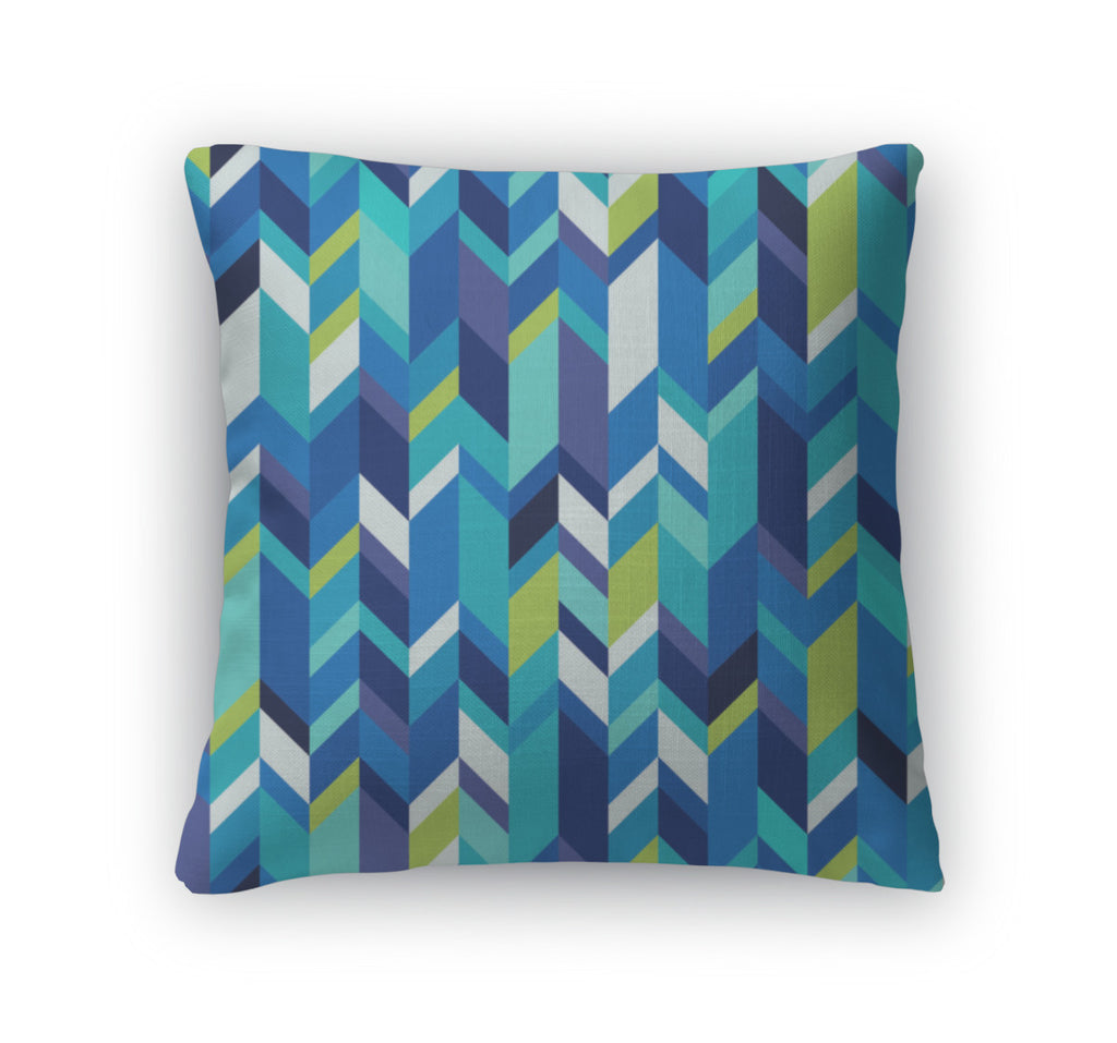 Throw Pillow, Geometric Pattern With Zigzags