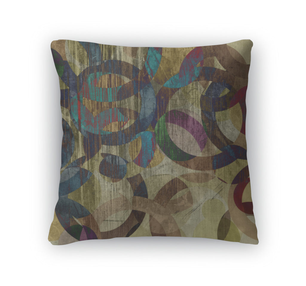 Throw Pillow, Art Abstract Grunge