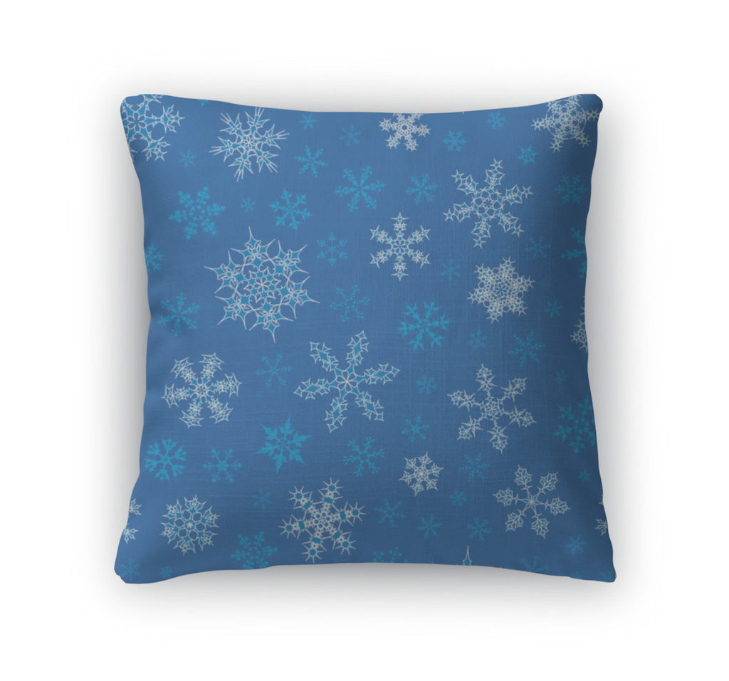 Throw Pillow, Snowflakes Pattern