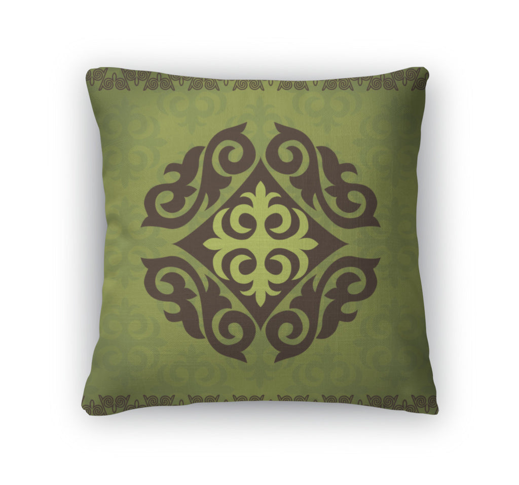 Throw Pillow, Kazakh Asian Ornaments