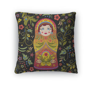 Throw Pillow, Russian Doll