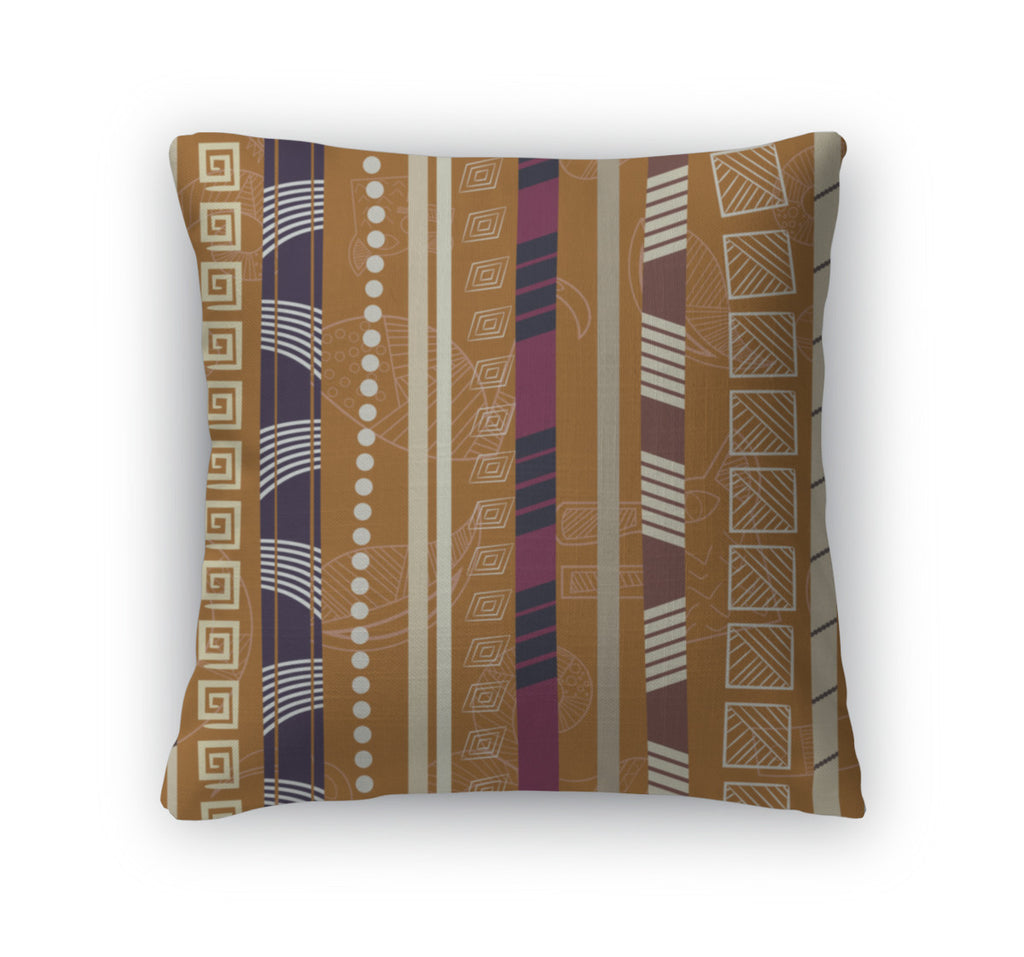 Throw Pillow, Tribal Colorful