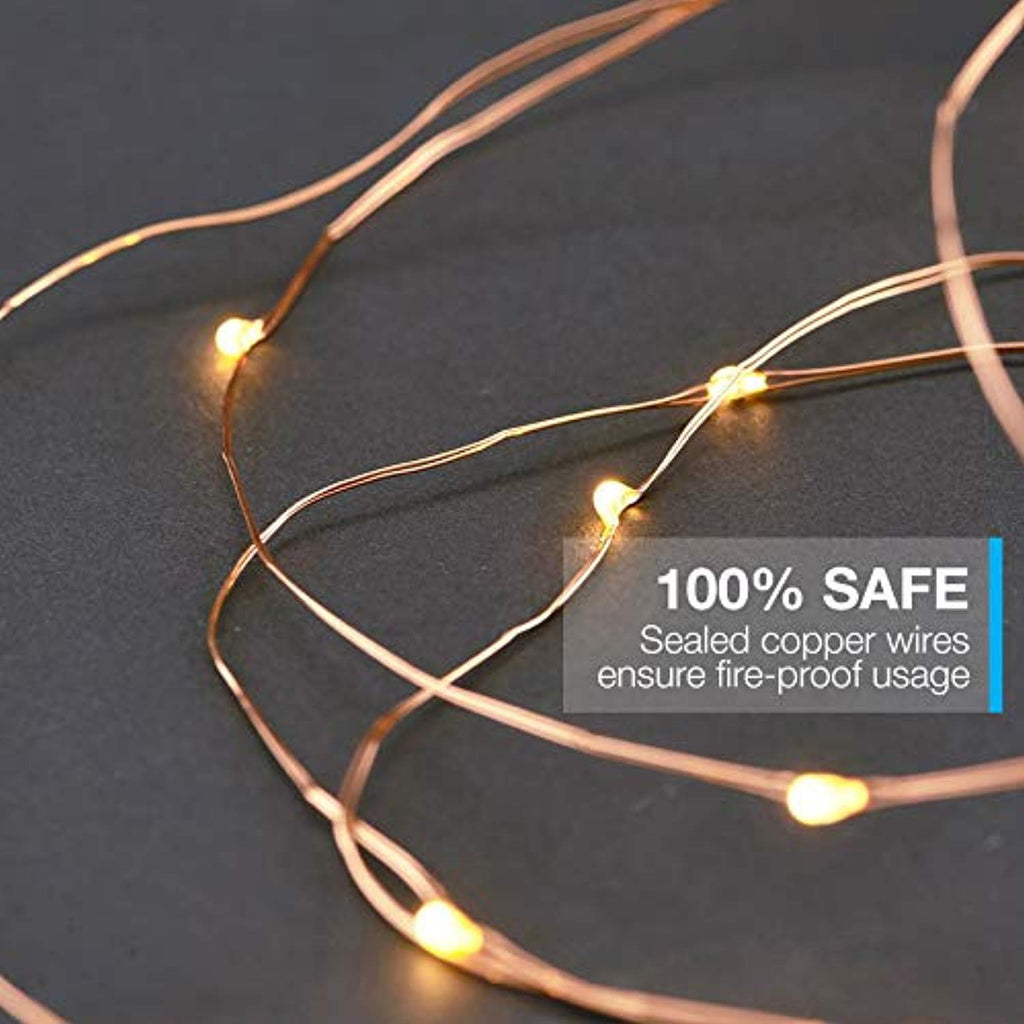 Waterproof Starry Fairy Lights (66ft - 200 LEDs) USB Powered