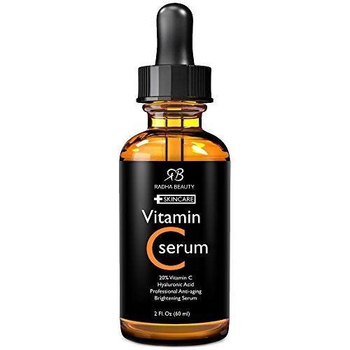 Vitamin C Serum for Face, 2 fl. oz - Organic Vitamin C + E + Hyaluronic Acid for Anti-Aging