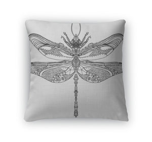 Throw Pillow, Steampunk Dragonfly