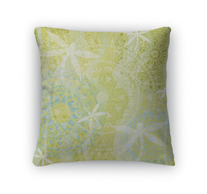Throw Pillow, Beautiful With Ornament And Dragonfly
