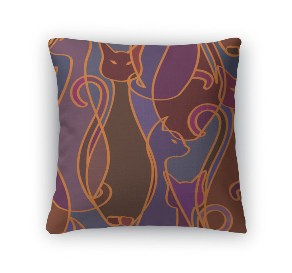 Throw Pillow, Pattern Of Cats