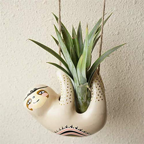 Cute Sloth Ceramic Hanging Succulent Planters