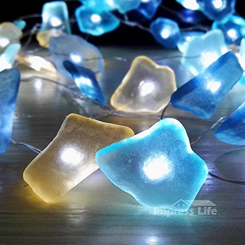 String Lights, Sea Glass Festive Beach Themed 10 ft 40 LEDs