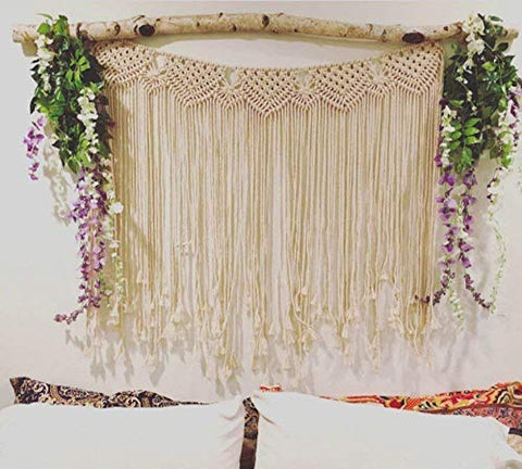 "Macrame Wall Hanging Boho Wedding Cotton Handmade Wall Art Home Wall Decor,42""x 35"""