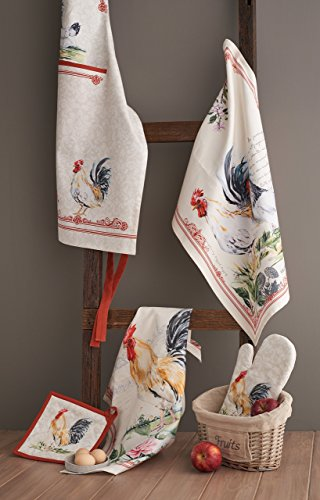 Maison d' Hermine 100% Cotton Set of 2 Kitchen Towels, 20 - inch by 27.5 - inch.