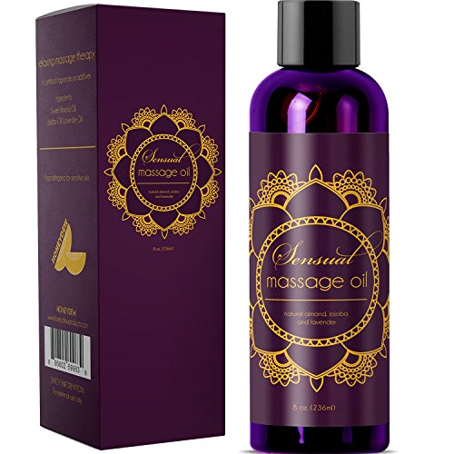 Honeydew Sensual Massage Oil with Pure Lavender Oil - Relaxing Almond & Jojoba Oil 8oz