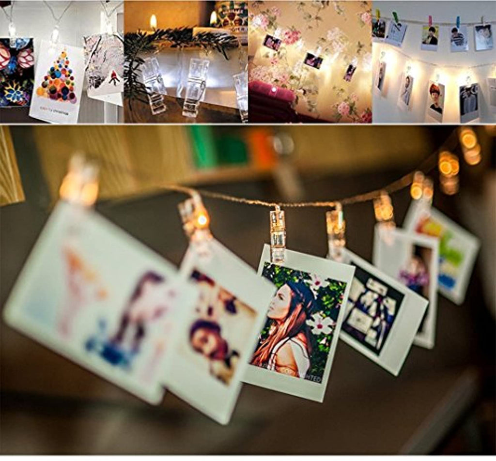 Photo Clip String Lights Home Decor Indoor/Outdoor, Battery Powered String Lights