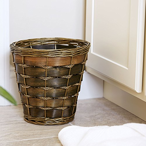 WickerBasket | Haven Willow and Poplar | Natural Dark Brown