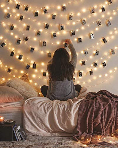 Waterproof Starry Fairy Lights (66ft - 200 LEDs) USB Powered String Lights for Bedroom Decor & Christmas, Bendable Copper Twinkle Lights, Indoor & Outdoor