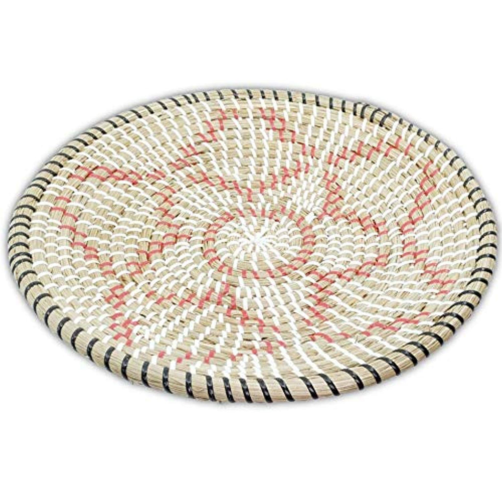 "Rattan Woven Fruit Basket (D 13.75"", Red Star)"
