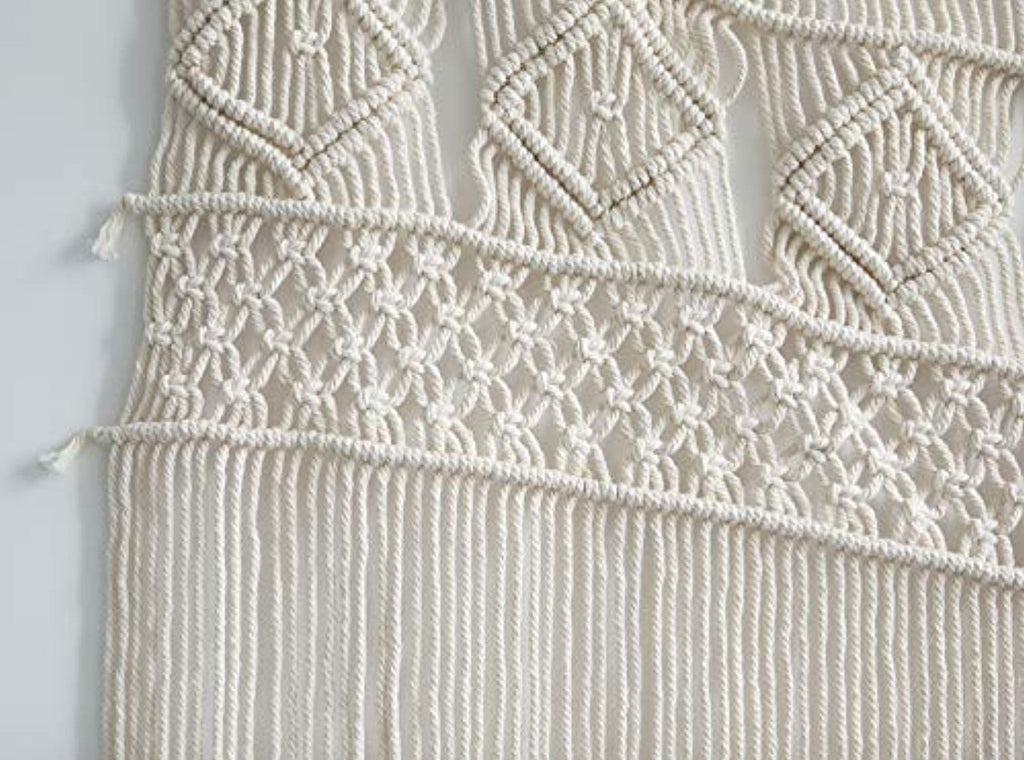 "Macrame Wall Hanging  or Curtain Panel 52""x 47"""