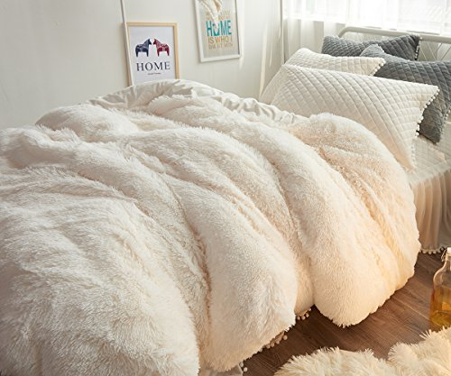 Velvet Flannel Duvet Cover, Zipper close - 3 sizes