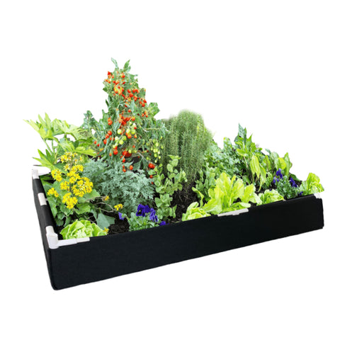 Delectable Garden Raised Container Garden Bed Including Support Structure eco-Friendly Made with 100% Recycled Material - 2ft X 4ft
