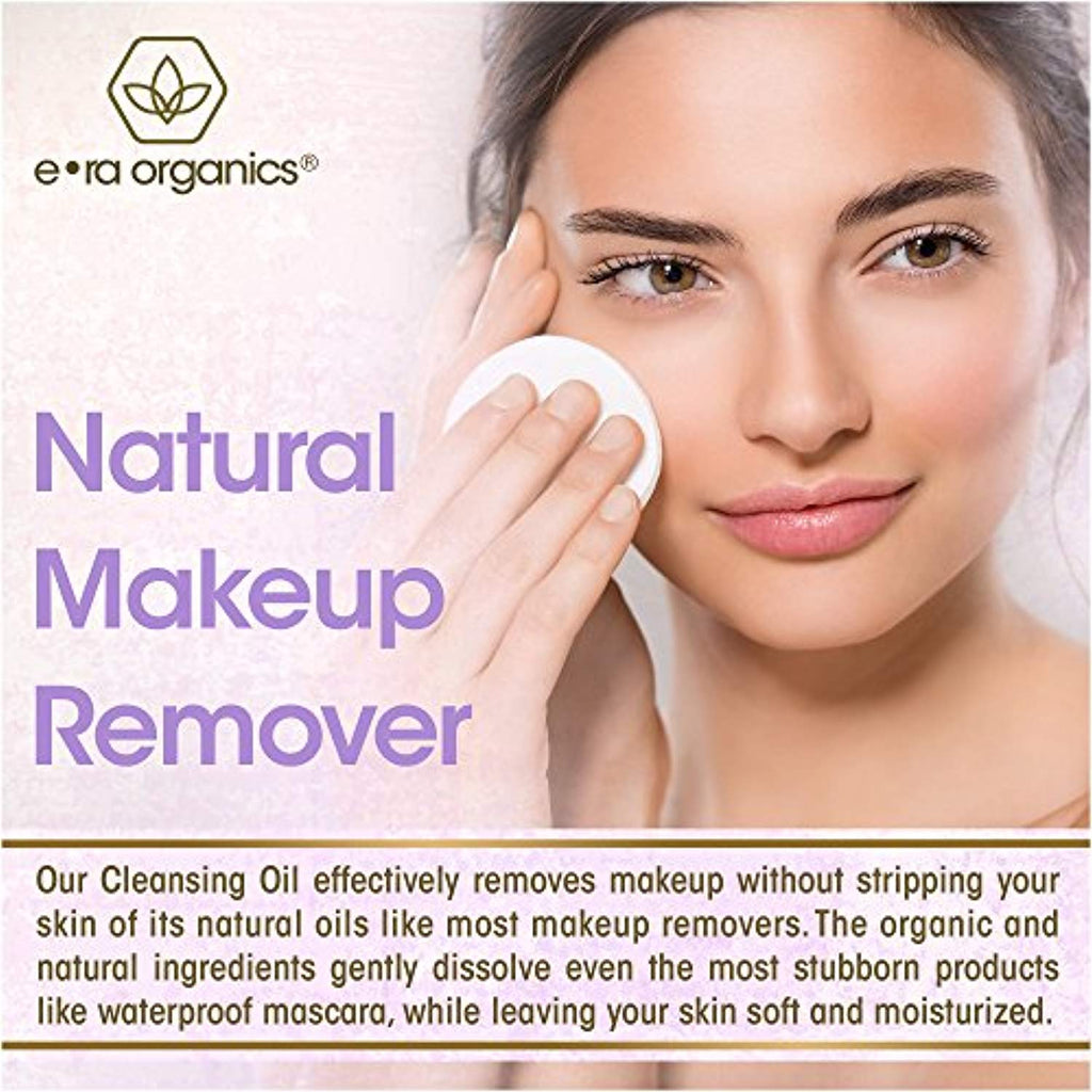 Facial Cleansing Oil & Makeup Remover- Organic With Argan, Apricot and Jojoba Oils 5 oz
