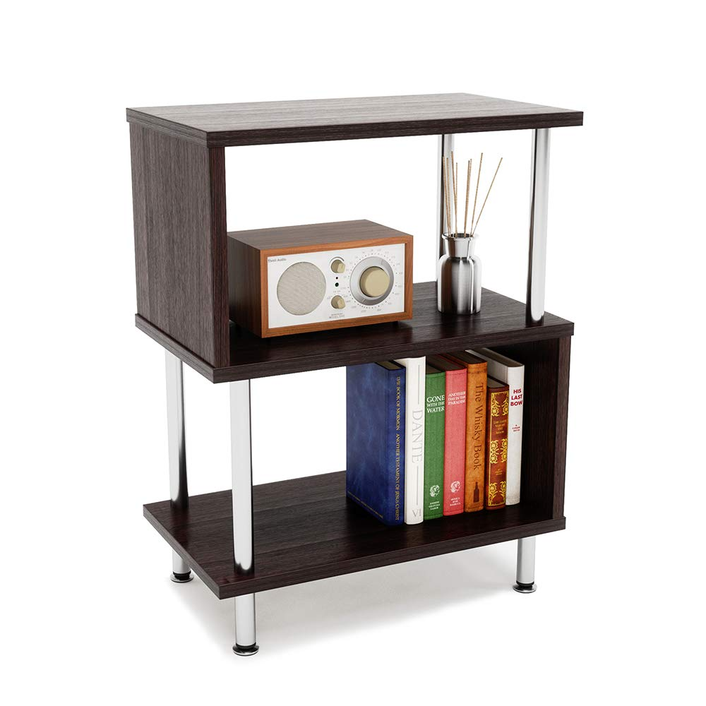 Side Table 3 Tier S-Shaped, Small Nightstand
