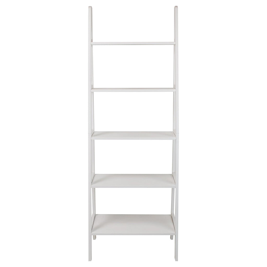 5-Shelf Ladder Shelves, White