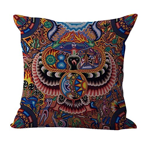 Set of 10 cushion covers Mexican folk art print decoration home interior