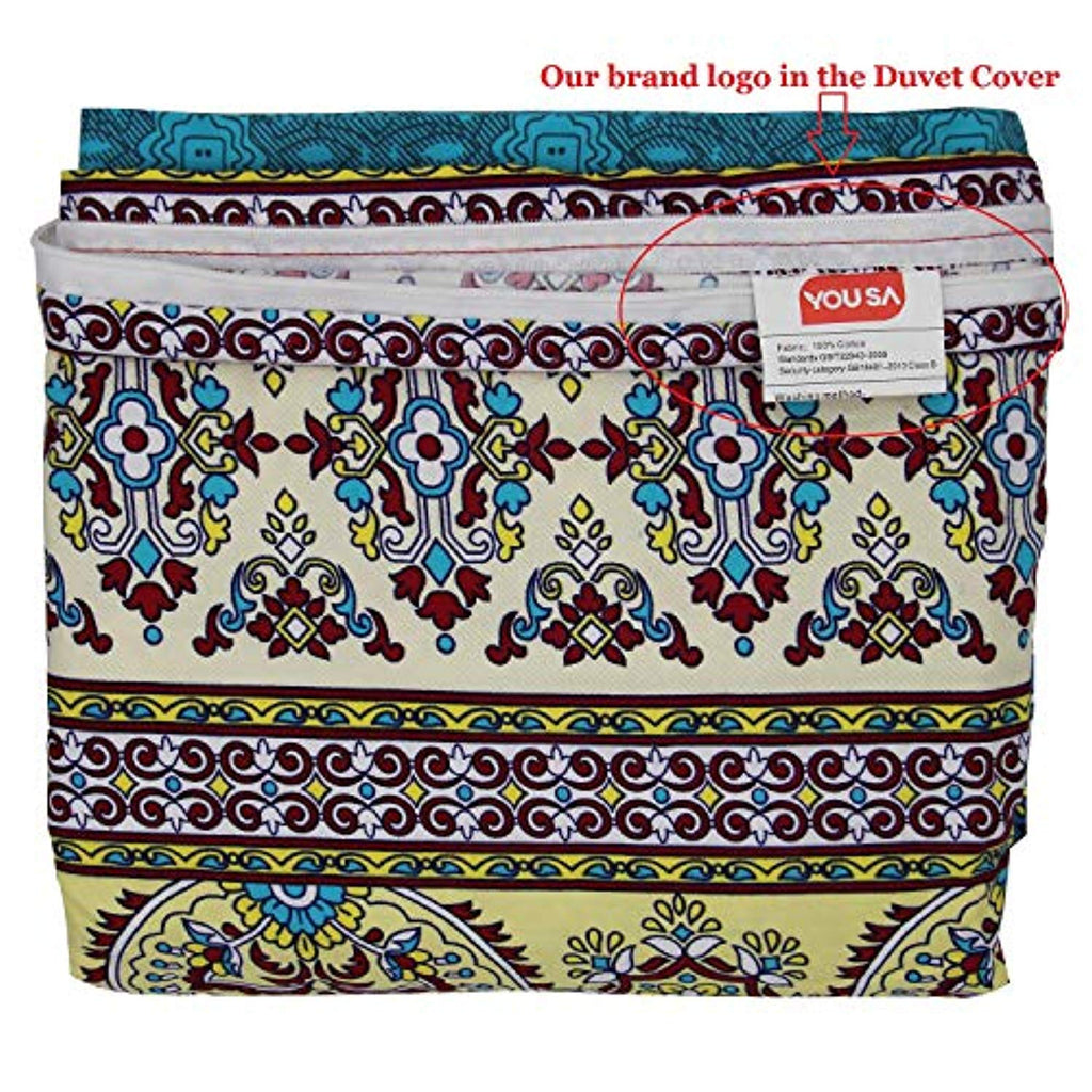 Bohemia Retro Bedding Duvet Cover 100% Brushed Cotton Bedding Sets (Twin, Full, Queen, King)