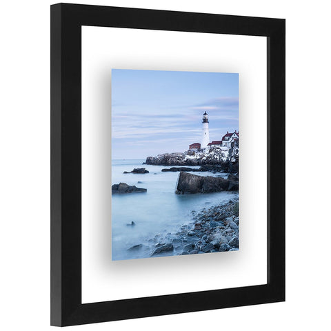 Floating Frame - Modern Picture Frame Designed to Display a Floating Photograph, Black