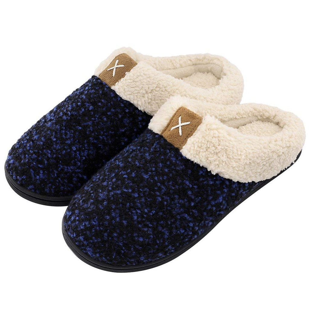 Women's Cozy Memory Foam Slippers Fuzzy Wool-Like Plush Fleece Lined