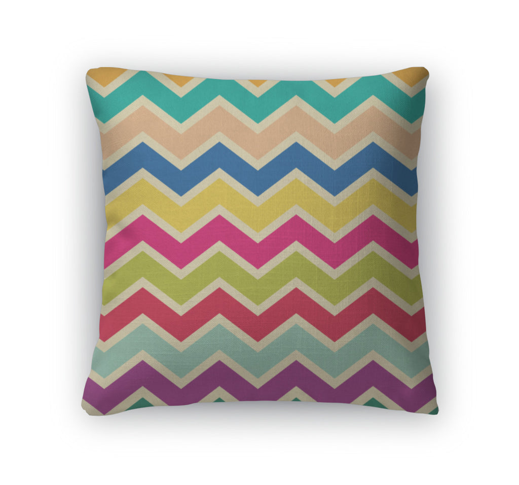 Throw Pillow, Zigzag Chevron Pattern