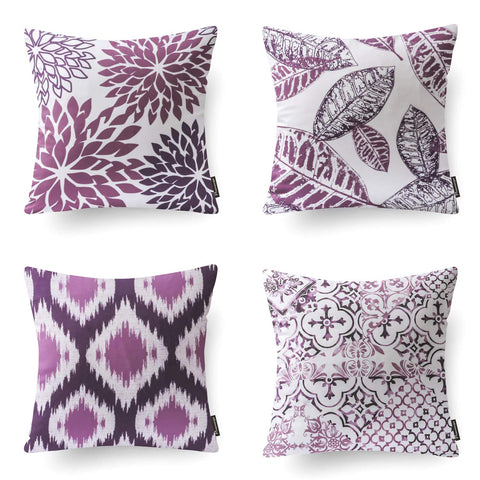 "Set of 4 Decorative Throw Pillow Case Cushion Cover 18"" x 18"" in many colors and patterns"