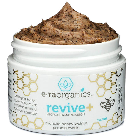 Microdermabrasion Facial Scrub & Face Exfoliator - Natural Exfoliating Face Mask with Manuka Honey & Walnut - Moisturizing Facial Exfoliant