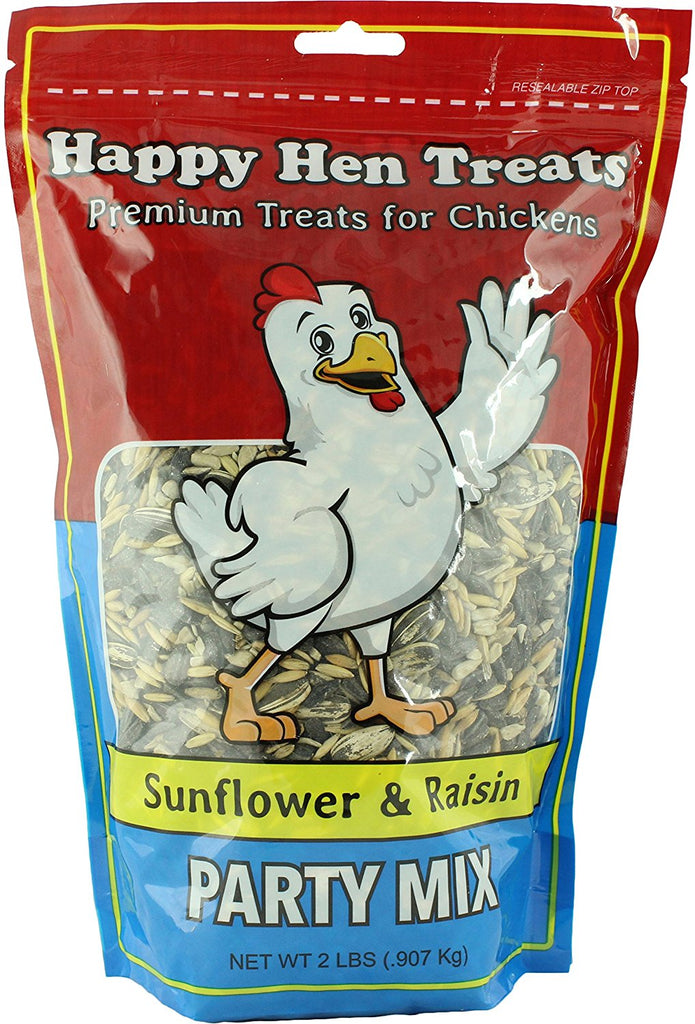 Happy Hen Treats Party Mix Sunflower and Raisin, 2-Pound