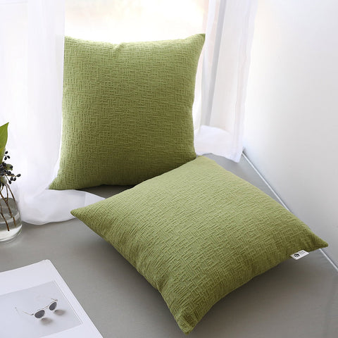 Green pillow covers, 18x18 inch (45cm),Set of 2