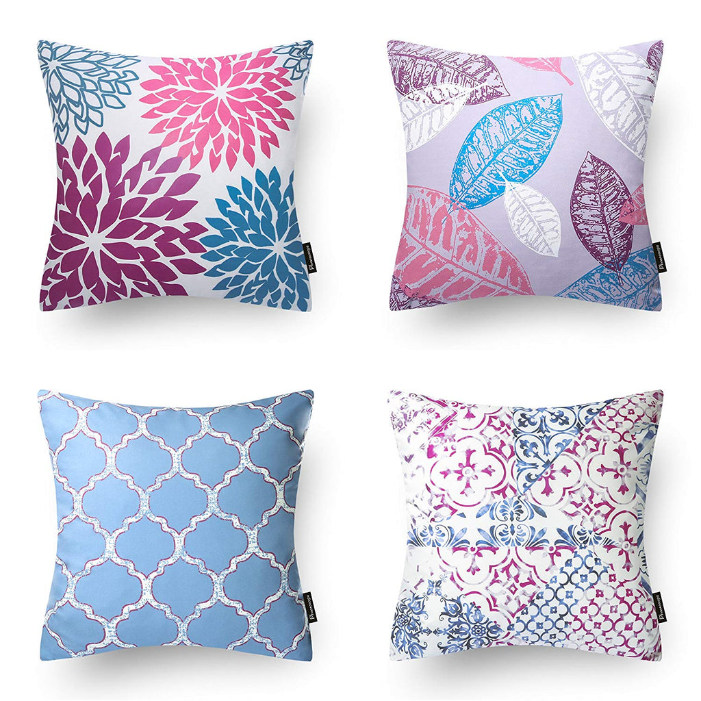 "Set of 4  Decorative Throw Pillow Case Cushion Cover 18"" x 18"" 45cm x 45cm--Comes in many custom colors!"