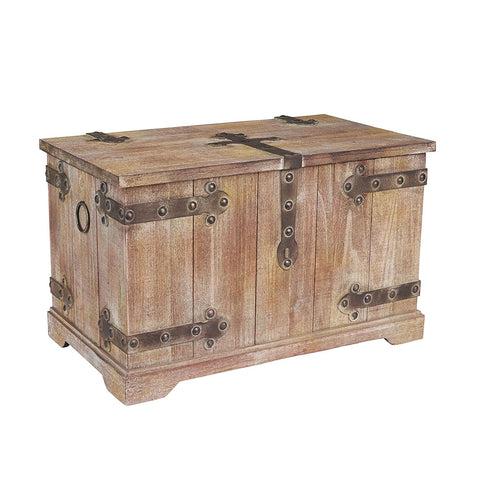Victorian Inspired Trunk, Rustic Brown, Large