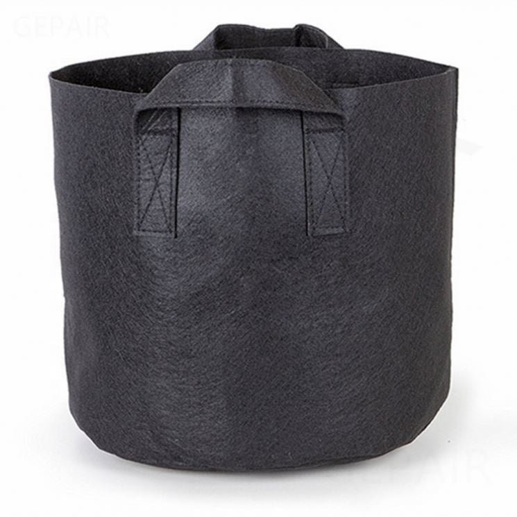 Delectable Garden 5 Gallon Plant Grow Bags, Non-Woven Aeration Fabric Pots w/Handles - Reinforced Weight Capacity & Extremely Durable (Black)--50% OFF NOW!!
