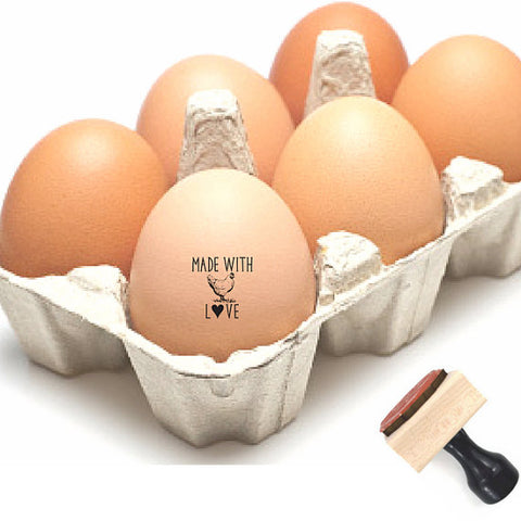 Personalized Egg Stamp -- MADE WITH LOVE Stamp -