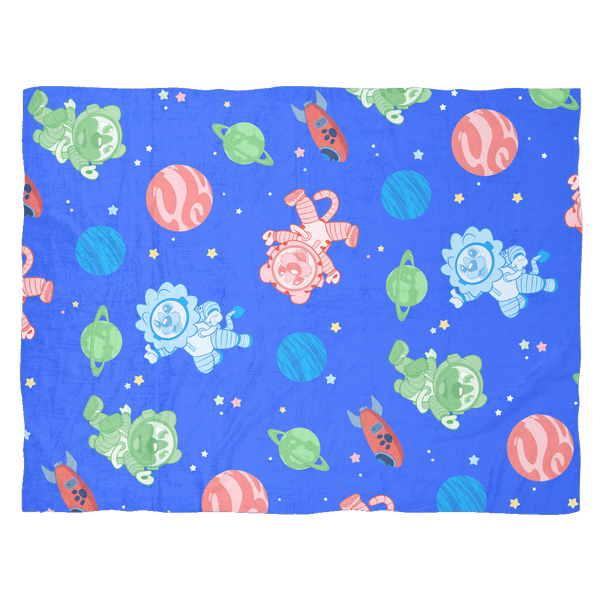 Galactic Patterned Fleece Baby Blanket Blankets - Tykables