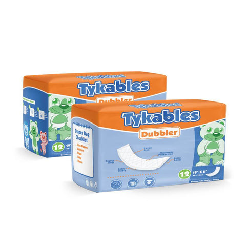 Dubbler Booster Pads Adult Diapers - Tykables