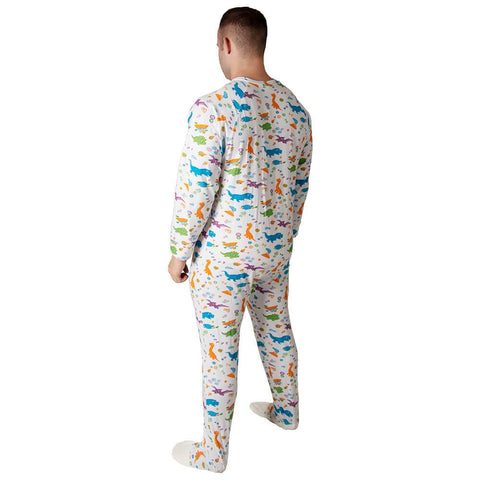 Little Rawrs Sleeper Footed PJs Snappies - Tykables