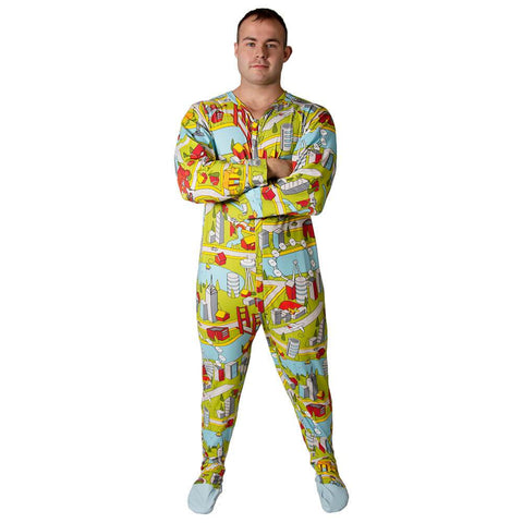 Metro Sleeper Footed PJs Snappies - Tykables
