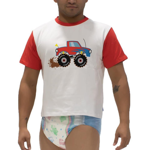 Little Monster Truck Snappies Play Shirt Snappies - Tykables