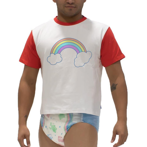 Unicorns Rainbow Snappies Play Shirt Snappies - Tykables