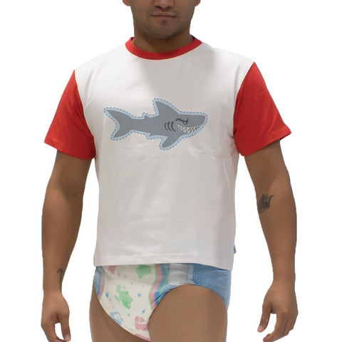 Sea Creatures Shark Snappies Play Shirt Snappies - Tykables
