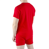 Red Romper Snappies - Tykables